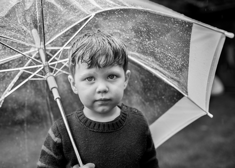 Outdoor family photography doesn't have to be in the sunshine
