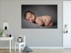 Muswell Hill baby photographer shows how to hang statement wall arts