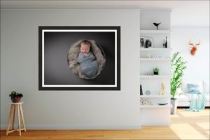 Where in your home could you hang a wall art following your North London baby photography session?