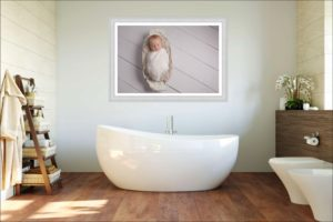 Muswell Hill baby photographers often have examples of where you can hang gorgeous wall arts - even in the bathroom