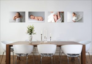 Think about where you could enjoy seeing your newborn portraits every day.
