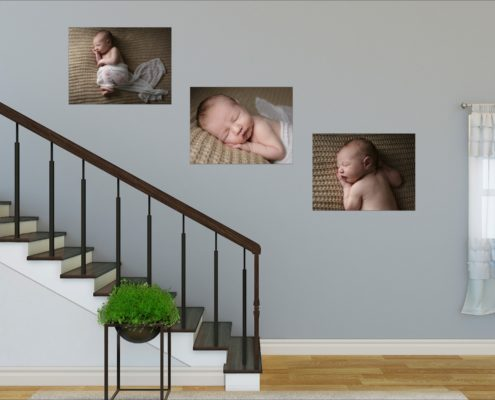North London photographer: Find spaces in your home to hang wall art in series, perhaps going up the stairs