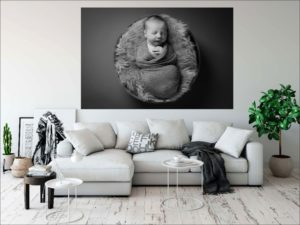 Make a statement with a huge aluminium print of your precious baby.