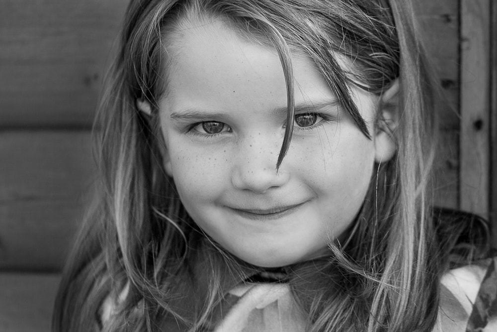 Children photographer Louisa Peacock captures the detail of the eyes with this little girl