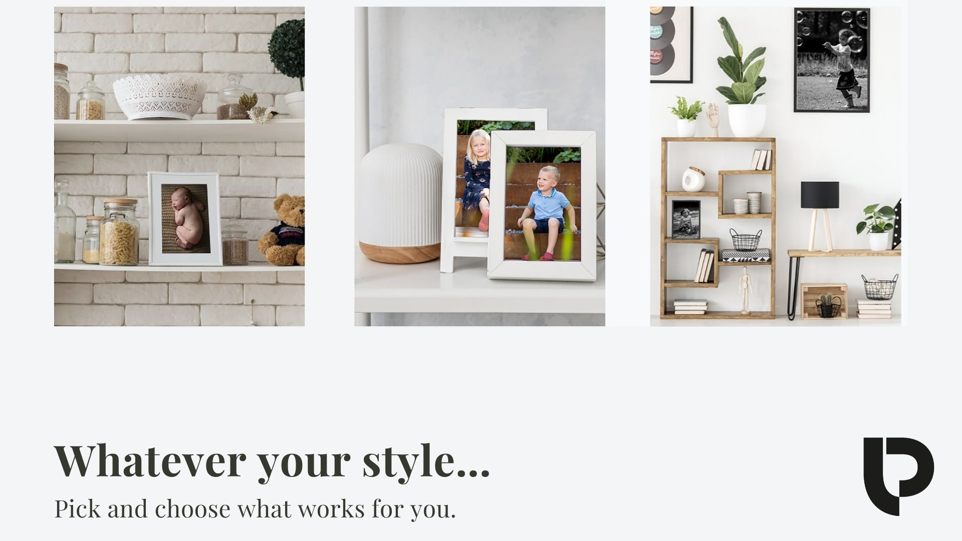Whatever your style, pick and choose what works for you after your baby photographer London session