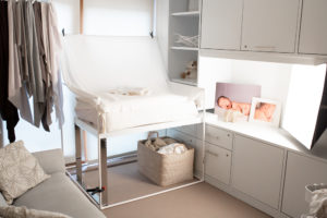 Muswell Hill photographer: A clean studio awaits a newborn baby