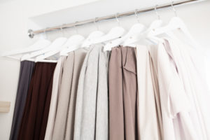 Louisa's Muswell Hill photography studio boasts a range of soft, neutral linens