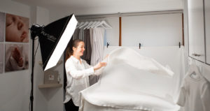 Top Muswell Hill photographer studio spreads a white backdrop