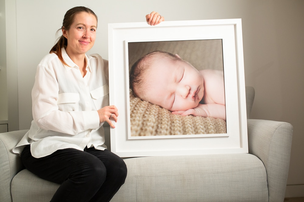 Baby photography London comes alive when printed