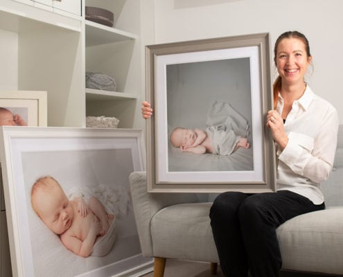 Baby photographer London Louisa Peacock shows off fine art wall prints