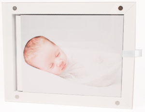 One of my bestsellers, the baby photographer London album is an heirloom