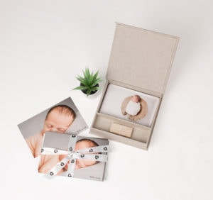 You will take home birth announcements and a set of prints when you buy the large digital image package at North London photographer Louisa Peacock Photography.