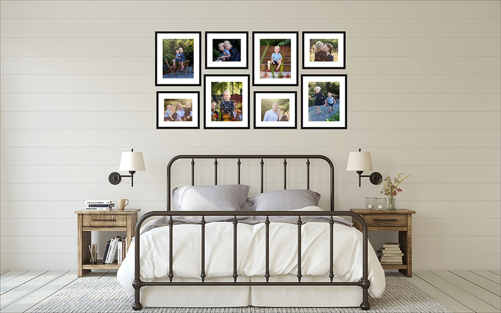 The blossom collection is a great way to display lots of images following your candid family photography shoot