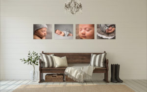 The Indulge set includes four aluminium frames of your favourite baby photos