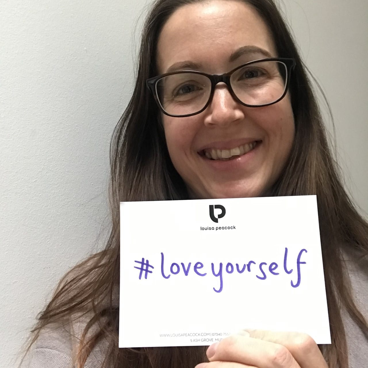 Louisa Peacock starts the #loveyourself hashtag challenge
